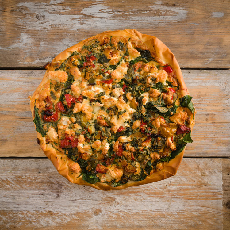 Basil2020-20-Roasted-Mixed-Pepper,-Goat_s-Cheese,-Basil-and-Mint-Filo-Tart