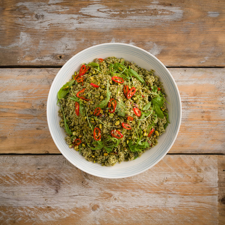 Basil2020-21-Cous-Cous-infused-with-Mint,-Coriander,-Dill,-Tarragon,-Parsel-with-Sauteed-Cumin-Onions,-Pistachios-and-Rocket