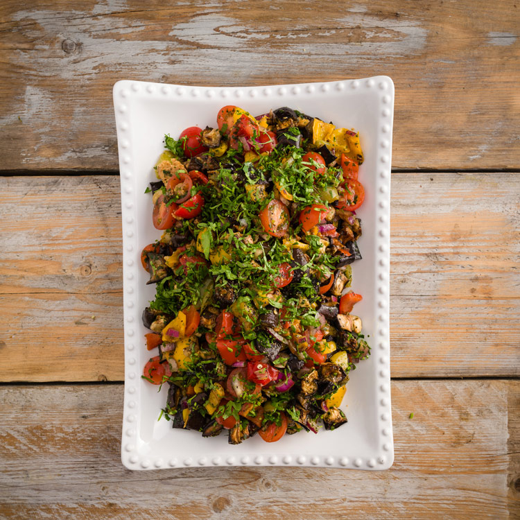 Basil2020-26-Aubergine,-Roasted-Mixed-Peppers-and-Cherry-Tomatoes-in-a-Cumin-and-Red-Wine-Vinegar