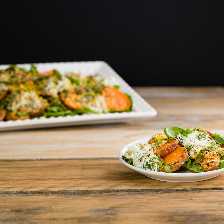 Basil2020-51-Roasted-Sweet-Potato-with-a-Lemon-Parmesan-and-Thyme-Crumb-with-a-Sour-Cream-and-Dill-Dressing_Side_image